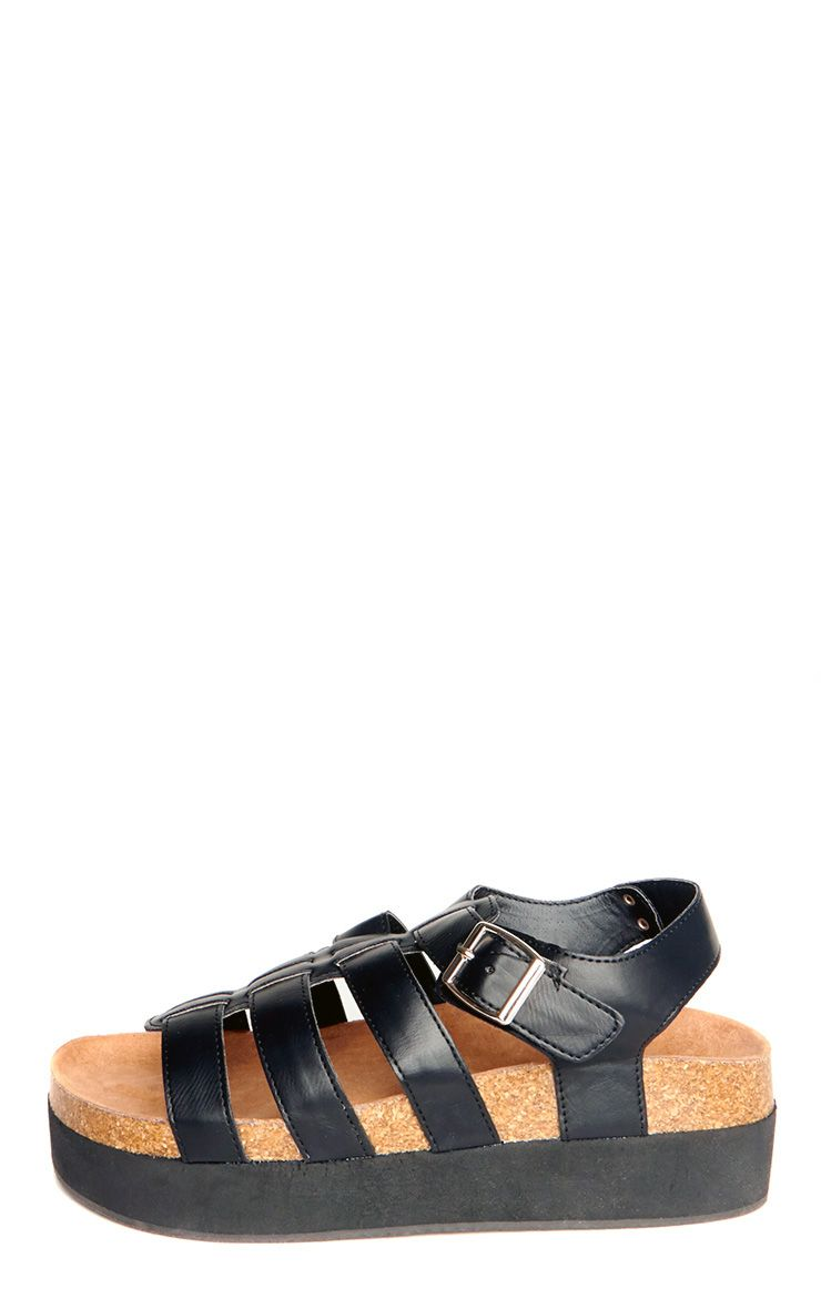 Inga Black Strappy Sandals 1