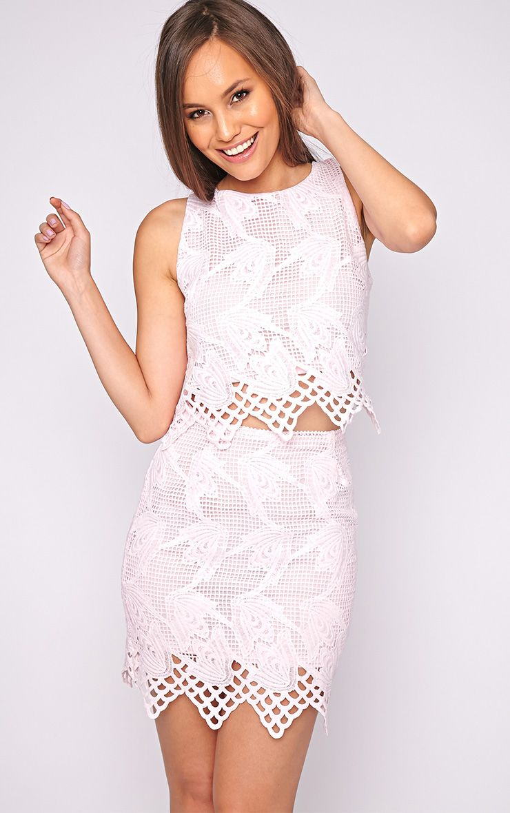Carla Pink Lace Skirt  1