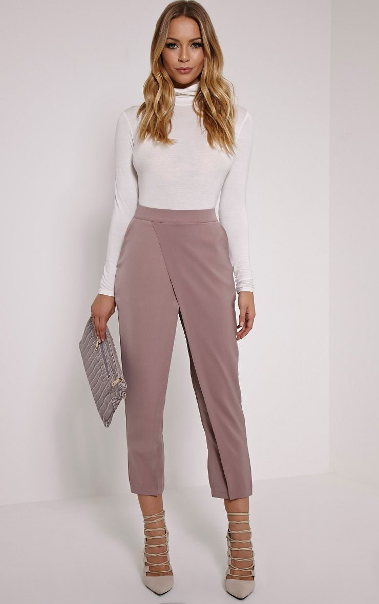 Rachel Blush Cross Front Trousers