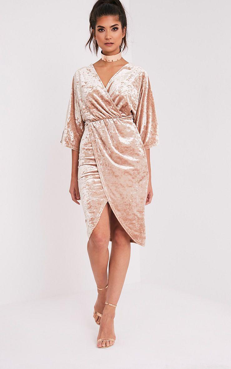 Archer robe midi cape velours champagne 4