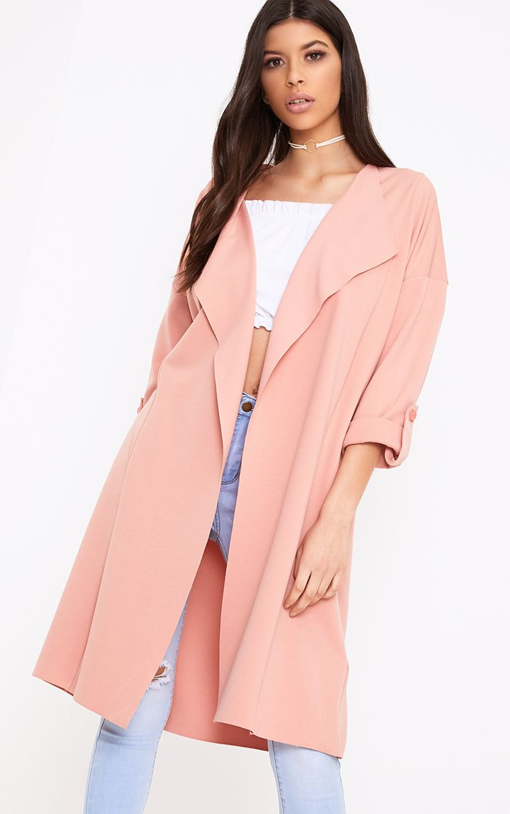 Leda Rose Gathered Waist Waterfall Jacket