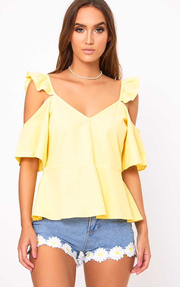 Lemon Frill Sleeveless Shirt