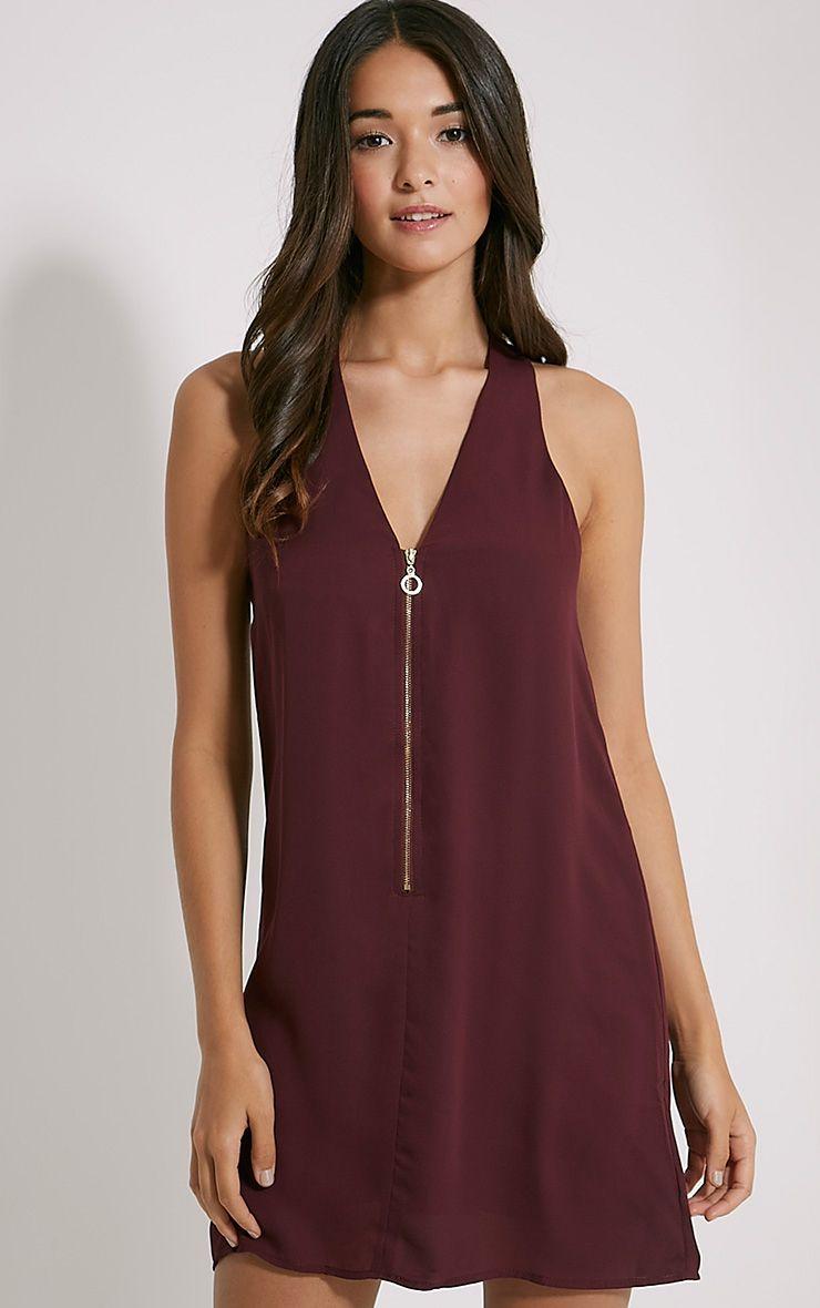 Essence Plum Zip Detail Dress 1