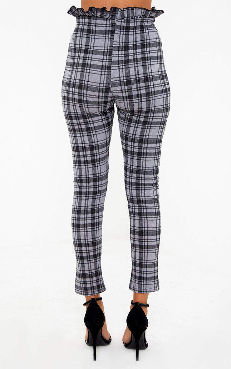Pantalon skinny gris carreaux pantalons for Pantalon a carreaux
