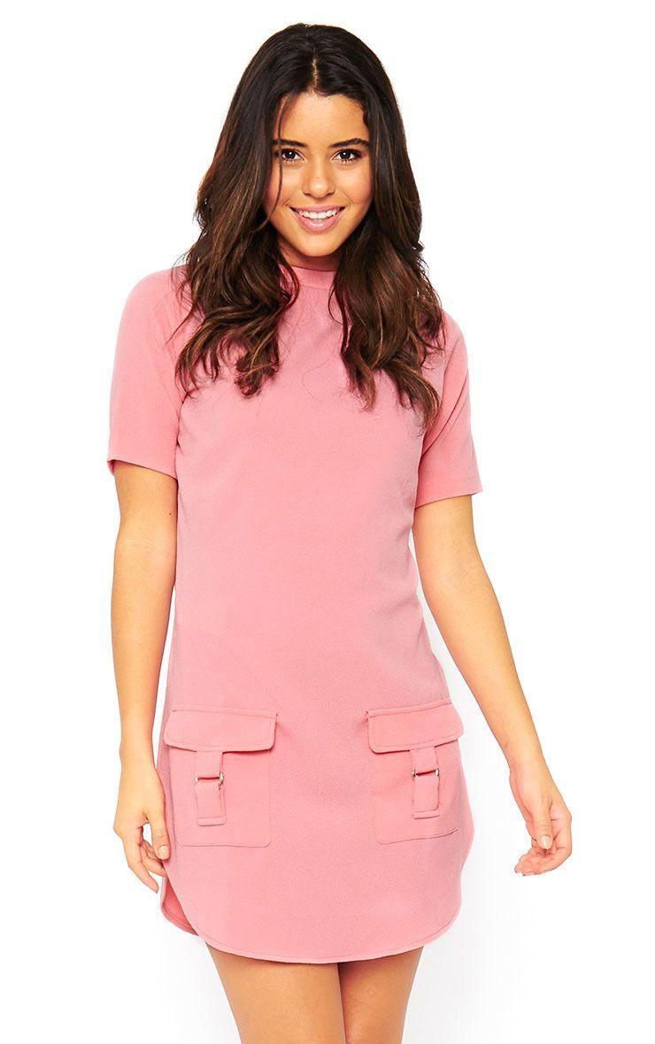 Anastasia Pink Pocket Front Shift Dress 1