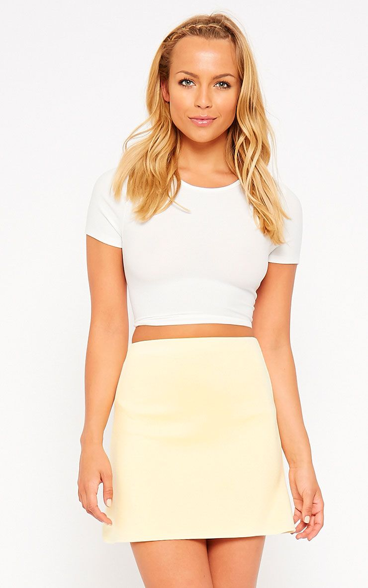 Lauryn Lemon Scuba A Line Skirt 1