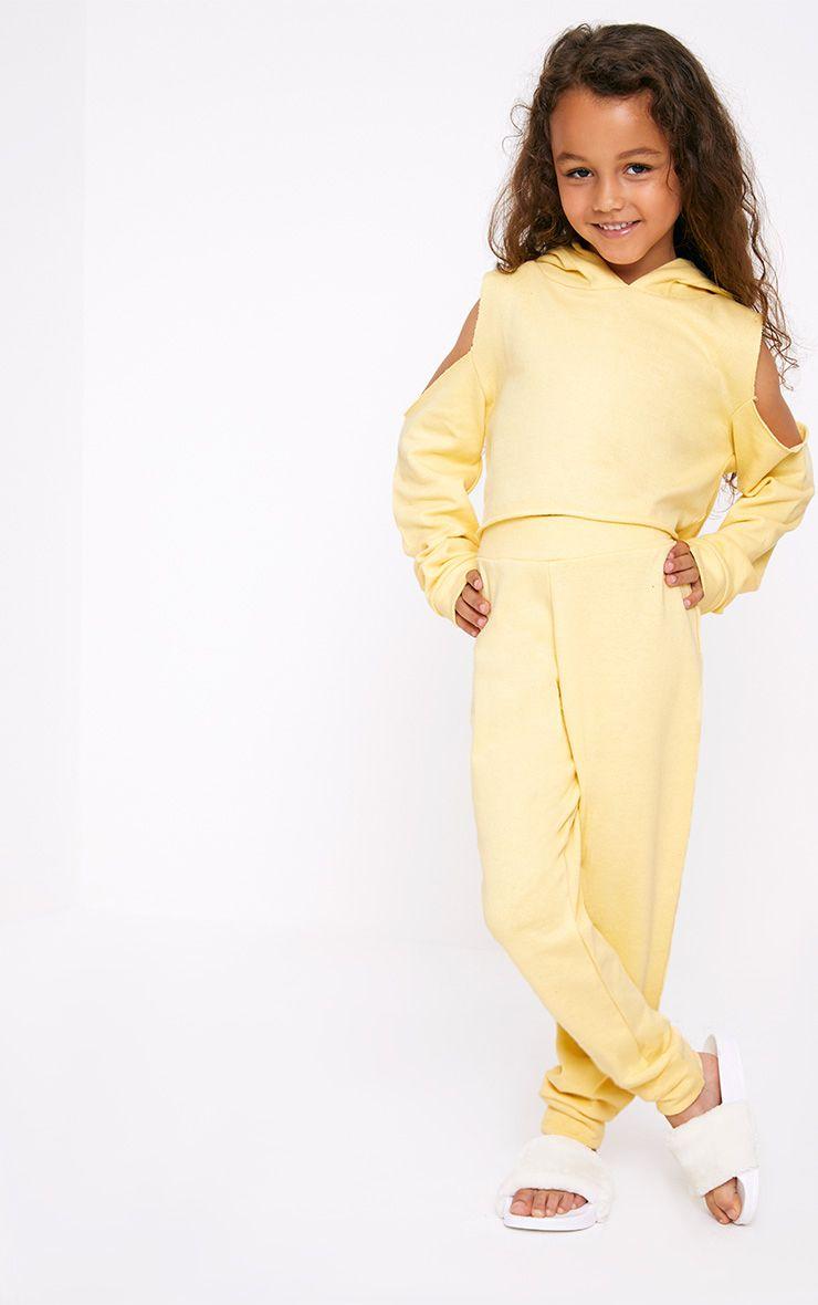 Cuff Hem Yellow Joggers