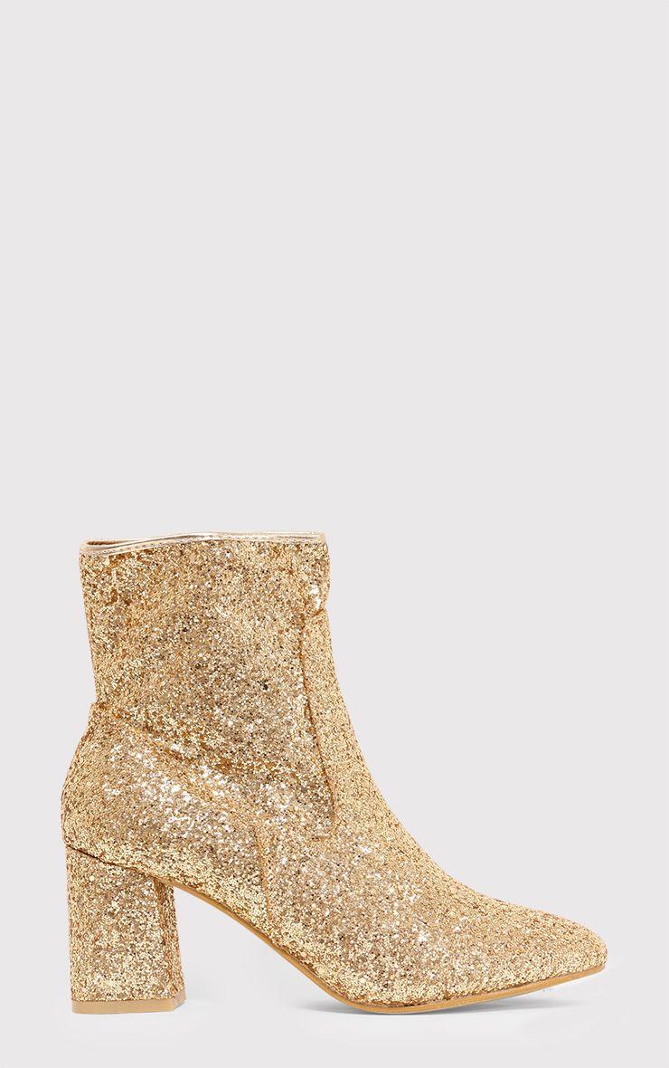 Rhianne Gold Glitter Ankle Boots