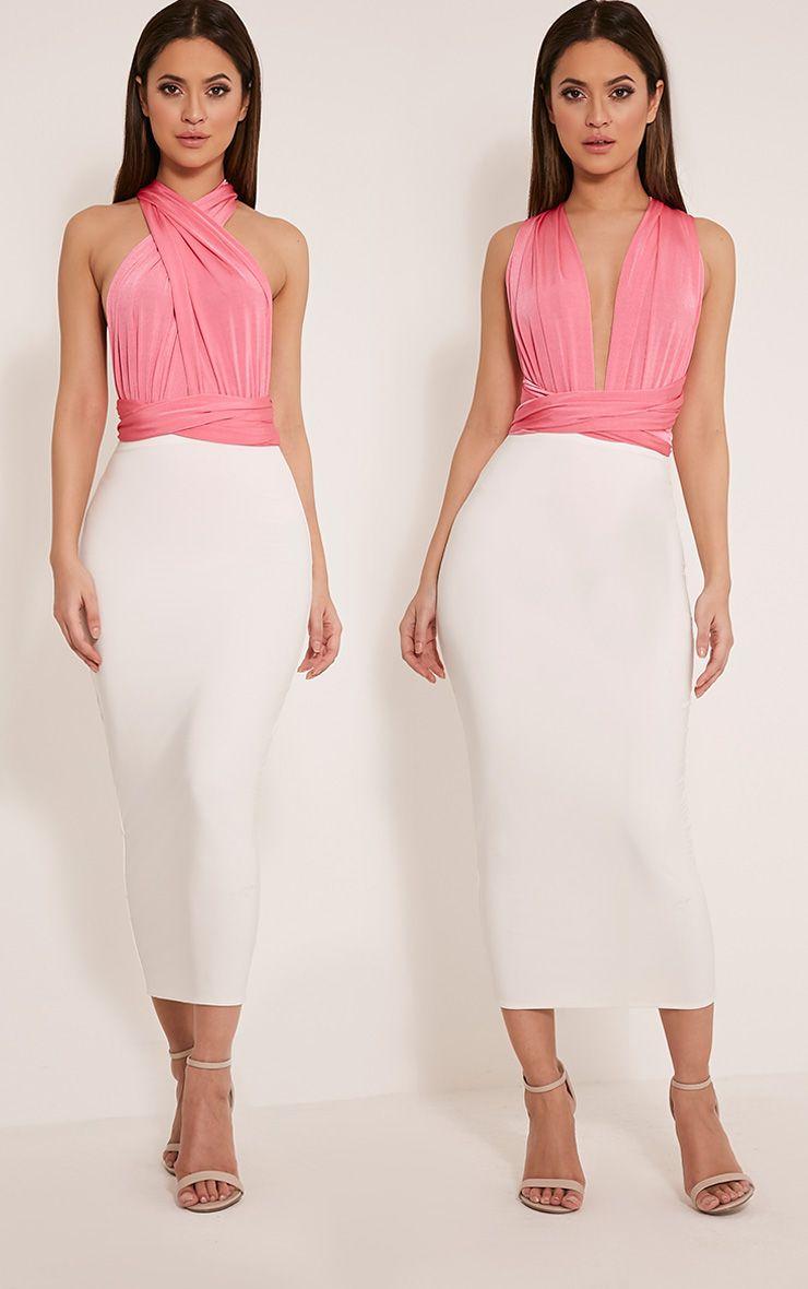 Liddia Hot Pink Multiway Bodysuit 1