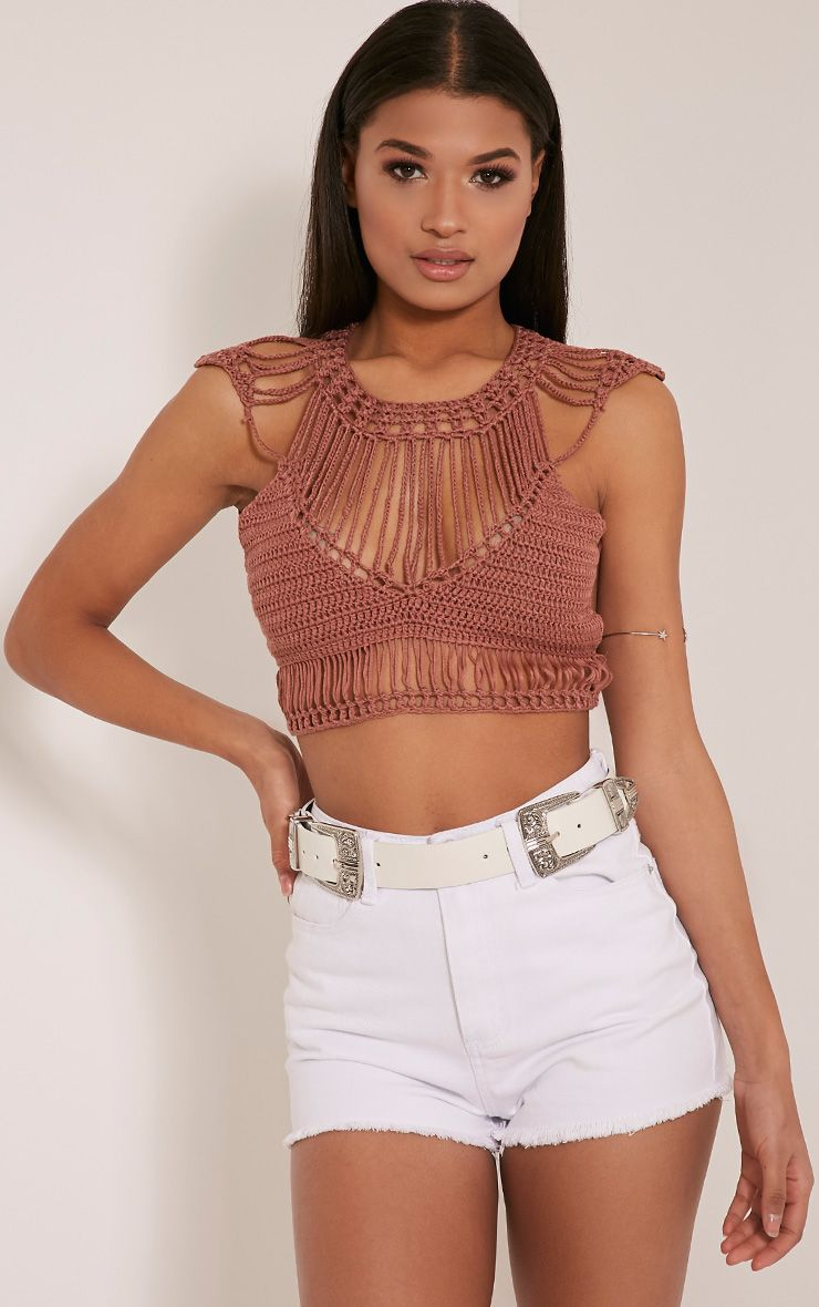 Samanthee Rose Crochet Crop Top