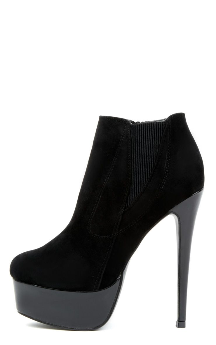 Product photo of Juno black high heels with metallic platform black