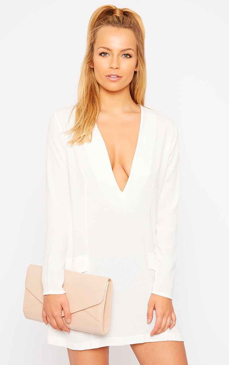 Jemima Cream Blazer Dress 1
