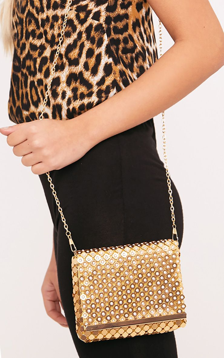 Jolee Gold Chainmail Clutch