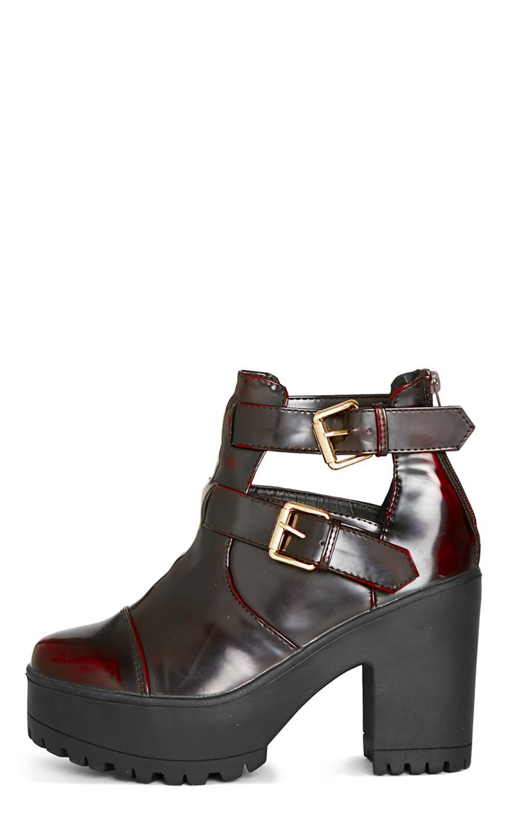 Nneka Oxblood Buckle Ankle Boot  1