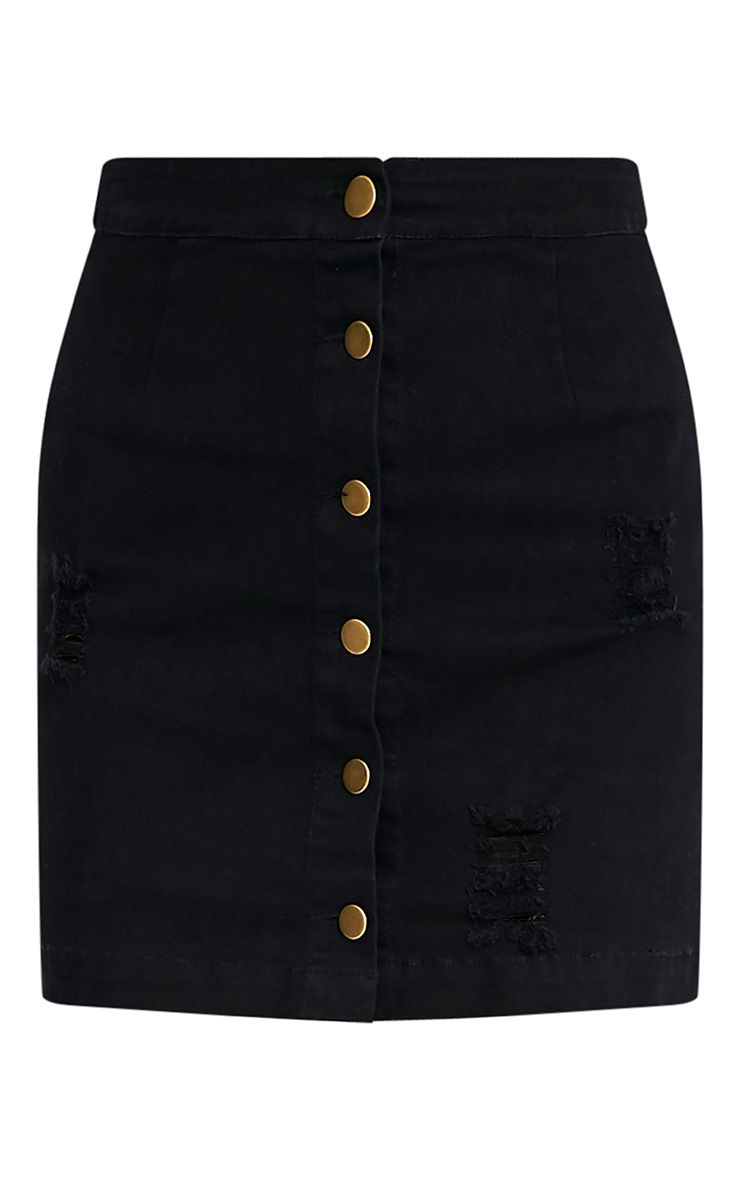 Zulia minijupe moulante noire à boutons 3