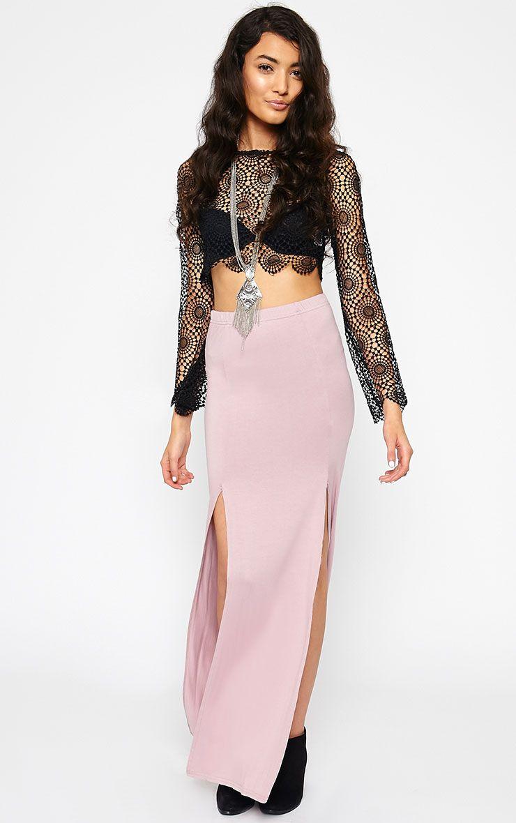 Fran Mauve Maxi Skirt 1