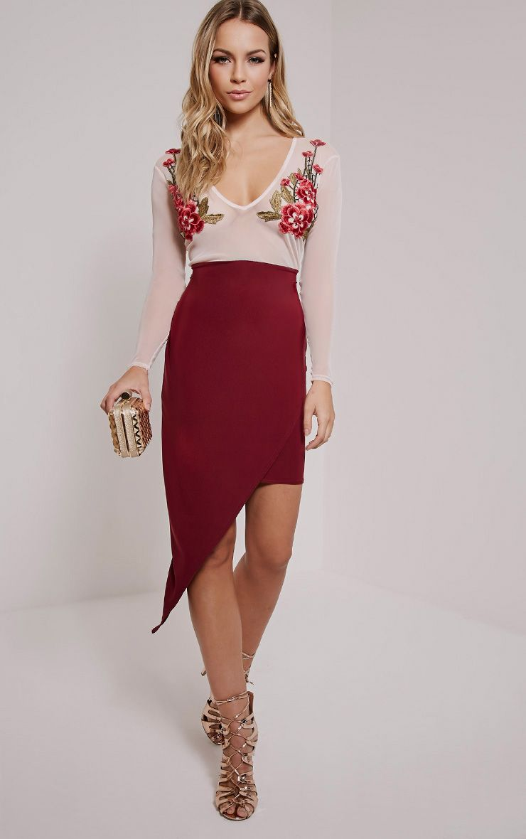 Sariyah Rose Flower Applique Bodycon Dress 1
