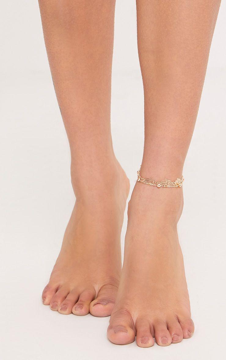 Nichelle Gold Hand Drop Anklet