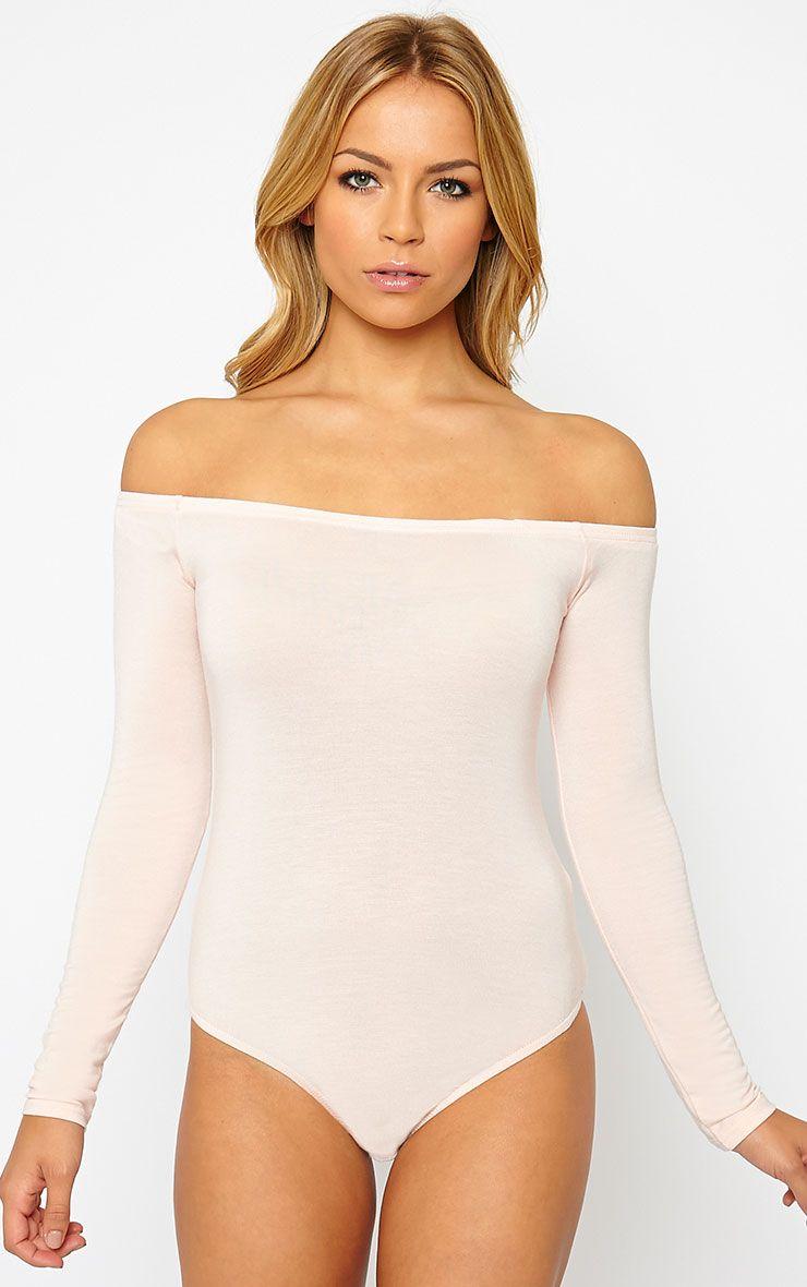 Basic Nude Bardot Bodysuit 1