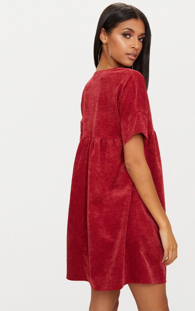 robe babydoll rouge en velours robes. Black Bedroom Furniture Sets. Home Design Ideas