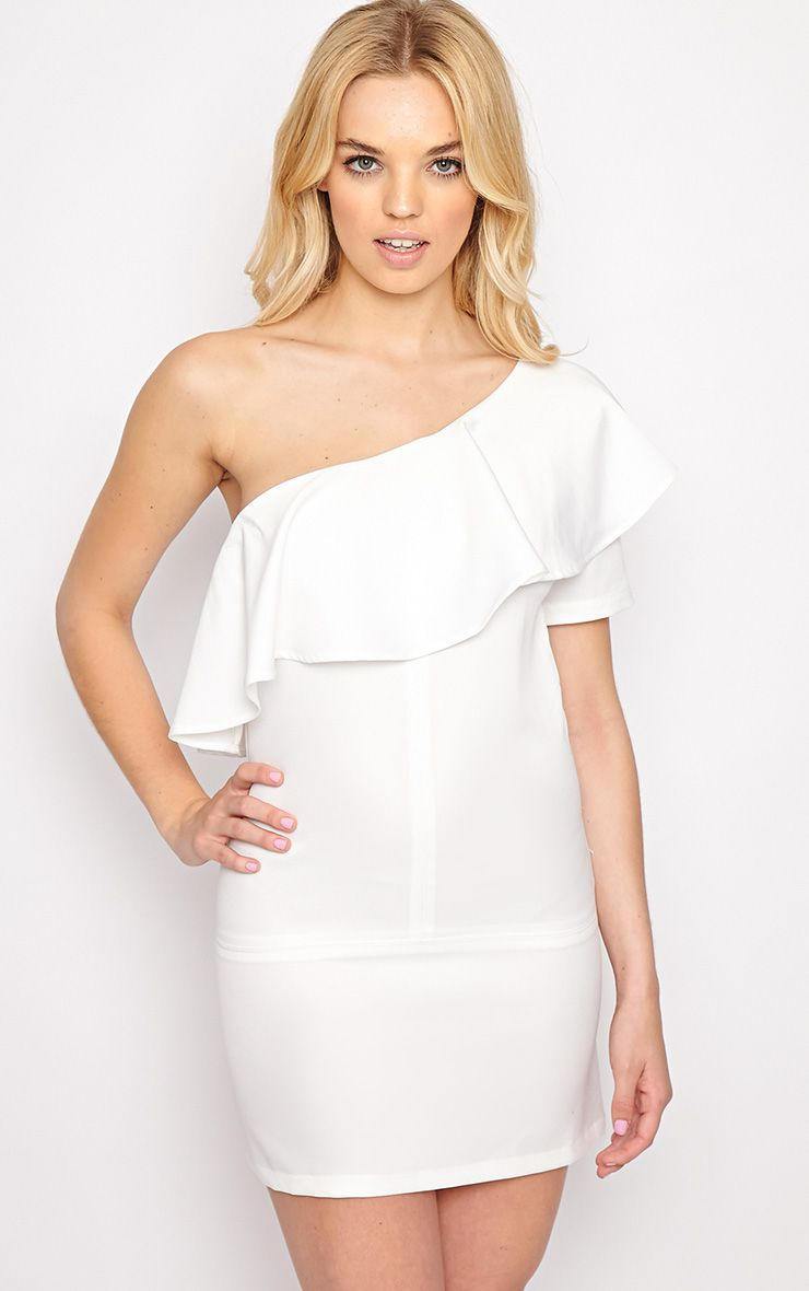 Alana White One Shoulder Bardot Dress 1
