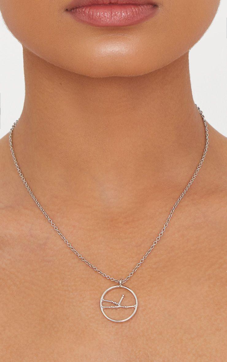 Silver Zodiac Taurus Star Constellation Necklace 1