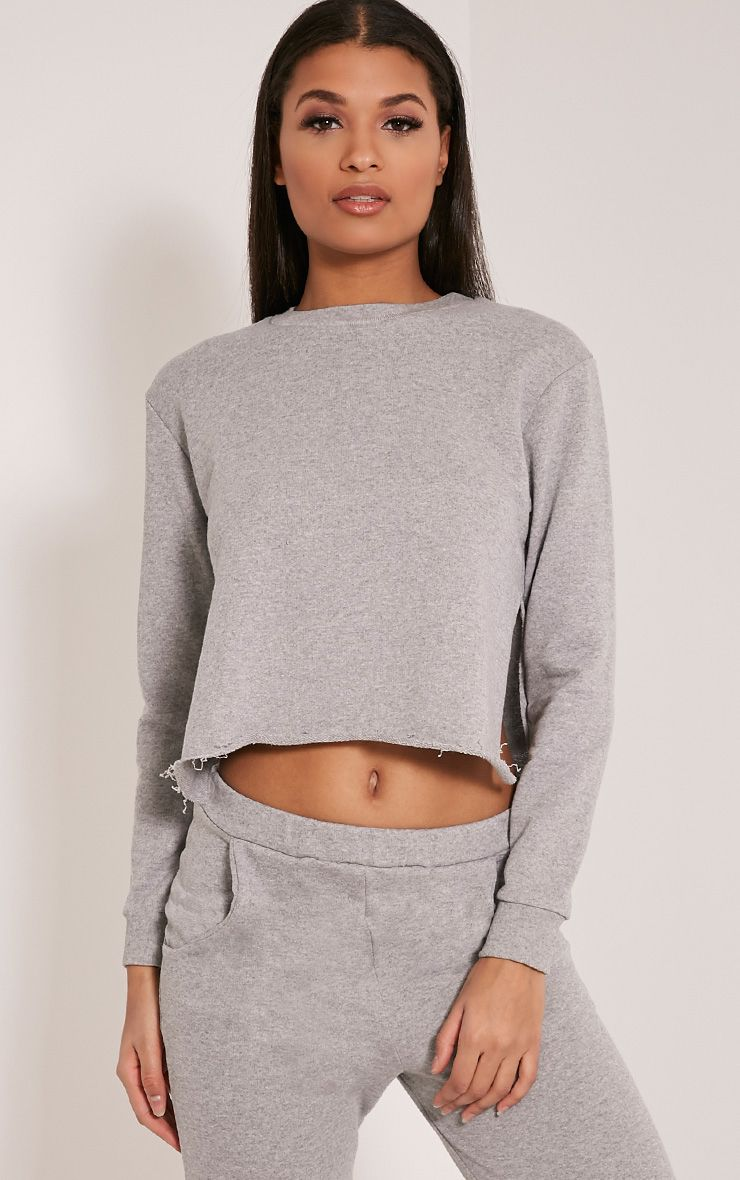 Ellia Grey Split Side Sweater 1