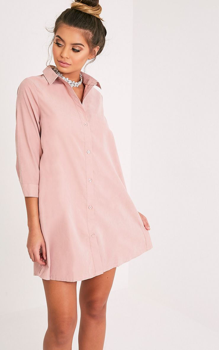 Leni Nude Shirt Dress