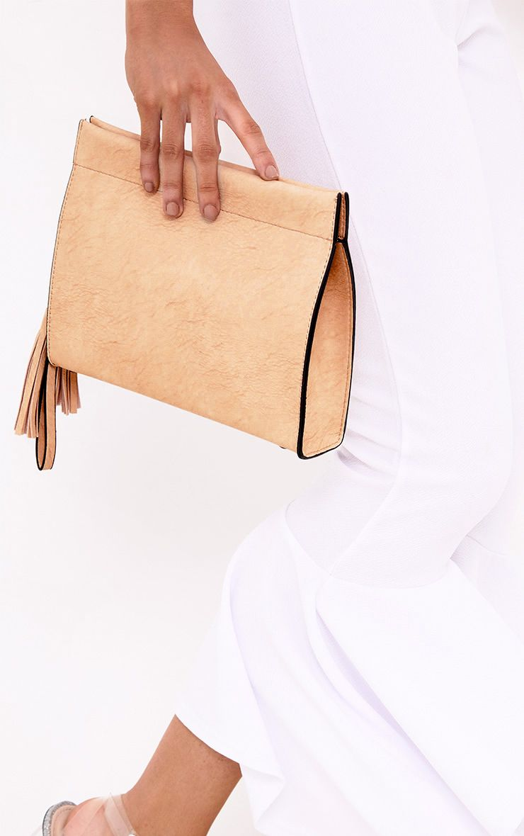 Nude Magnetic Fasten Shoulder Bag