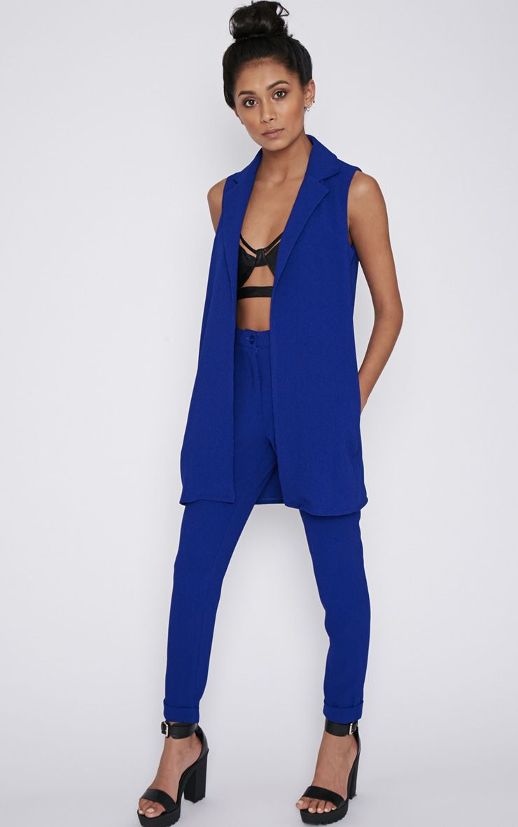 Twiggy Cobalt Trouser  1