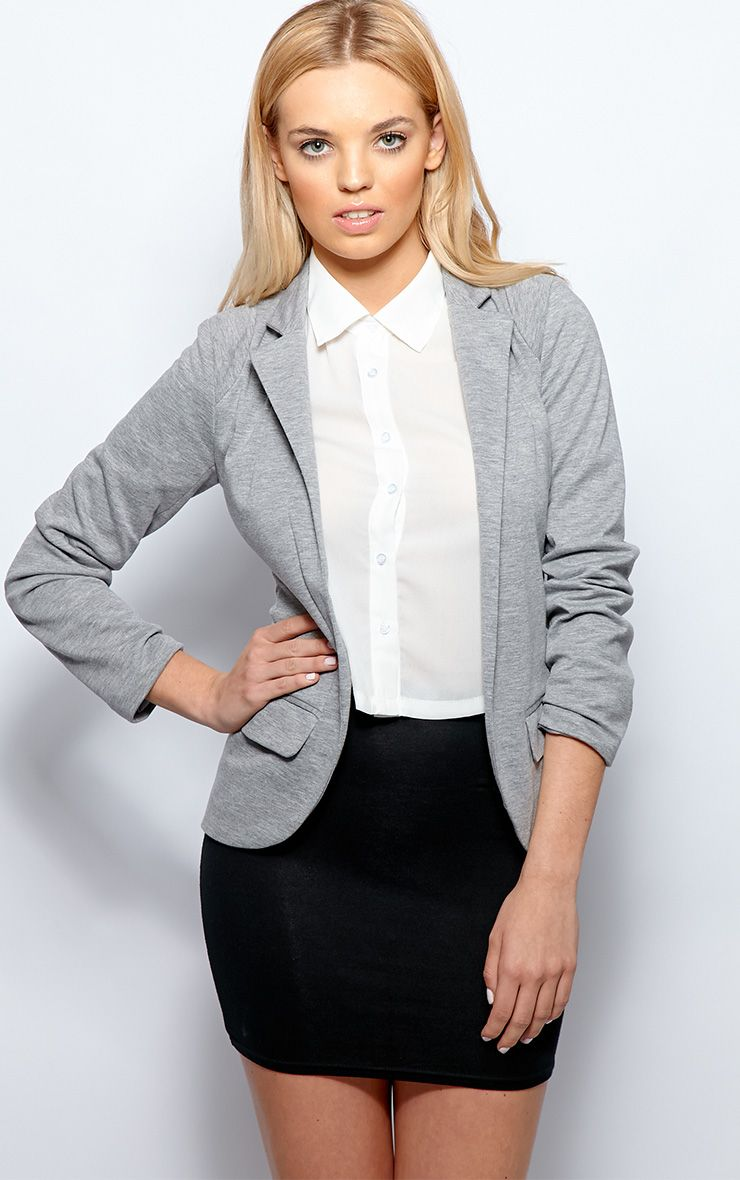 Molly Grey Jersey Blazer 1