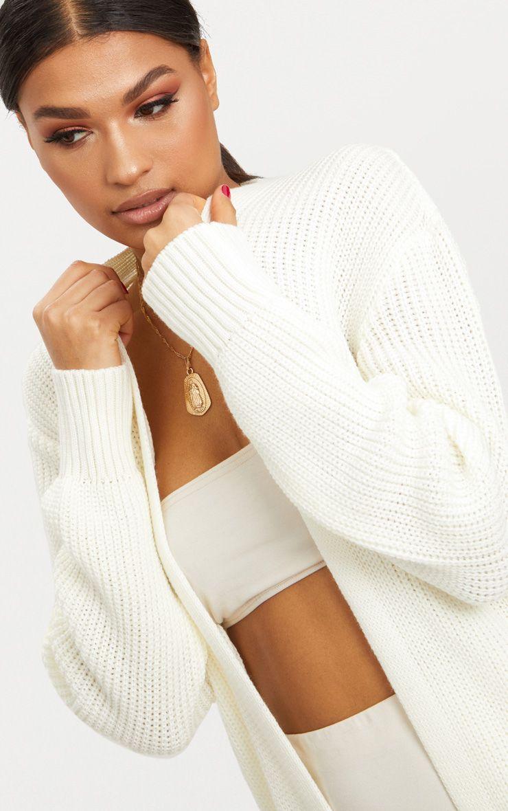 Cream Maxi Cardigan | Knitwear
