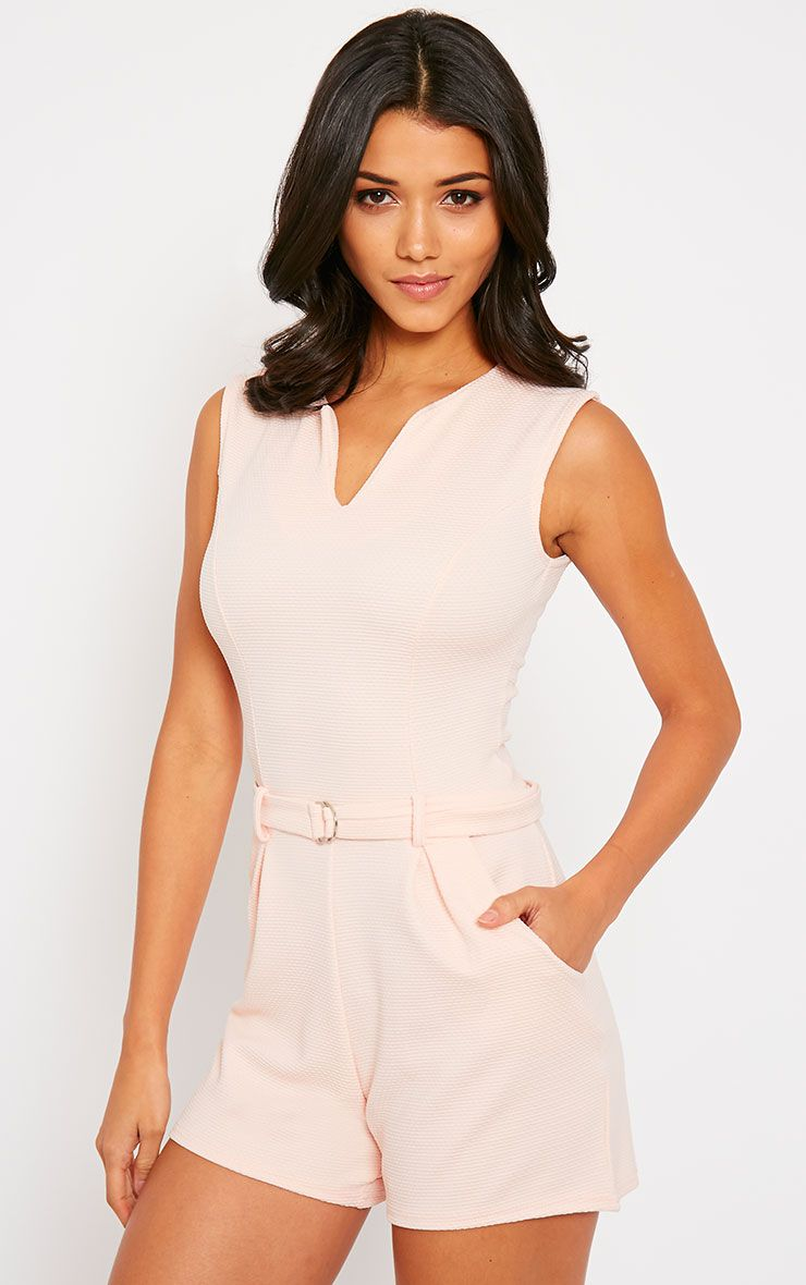 Evie Nude D-Ring Playsuit 1