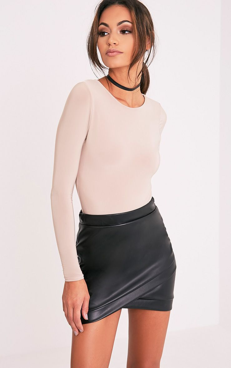 Gabriella Black Faux Leather Mini Skirt