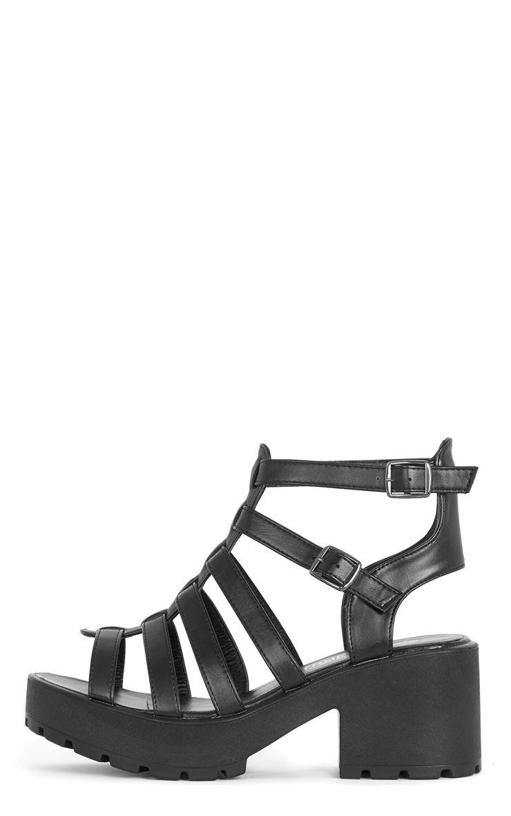 Dionne Black Extreme Gladiator Sandal 1