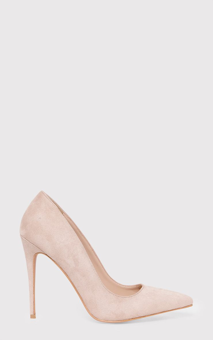 Dynah Stone Faux Suede Pointed Heels