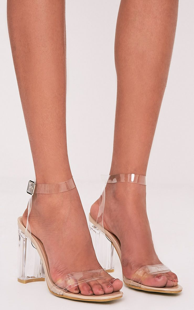 Sonia Clear Strap Perspex Heeled Sandals