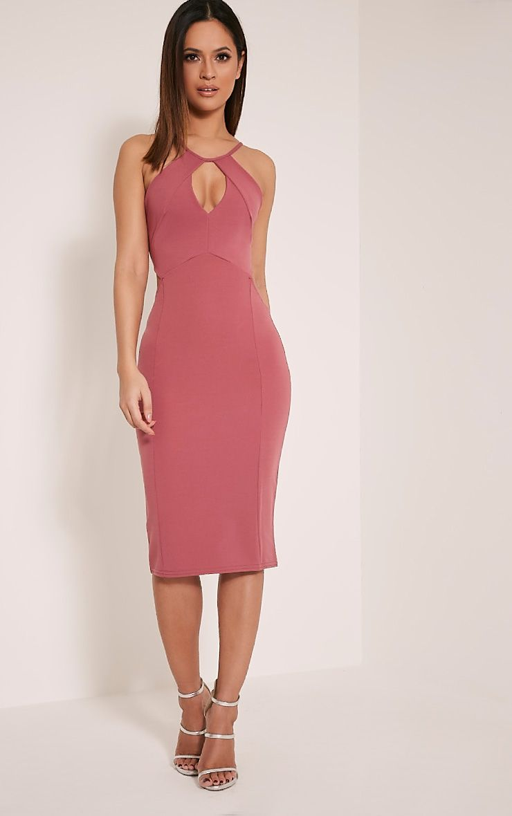 Terrie Rose Cut Out Detail Midi Dress 1