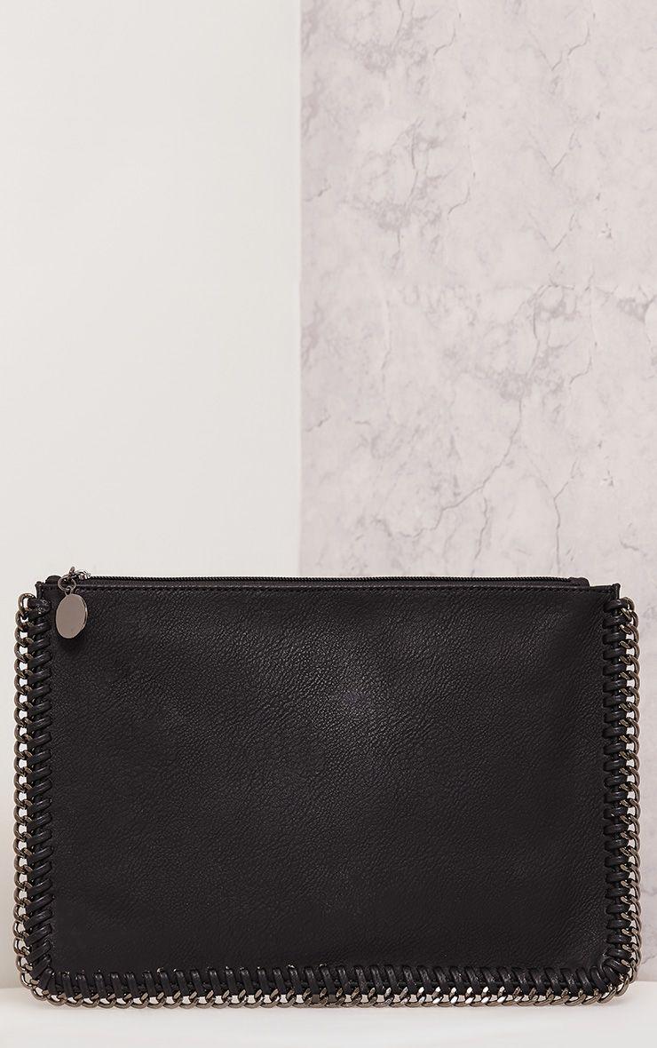 Wilfrie Black Oversized Chain Detail Bag