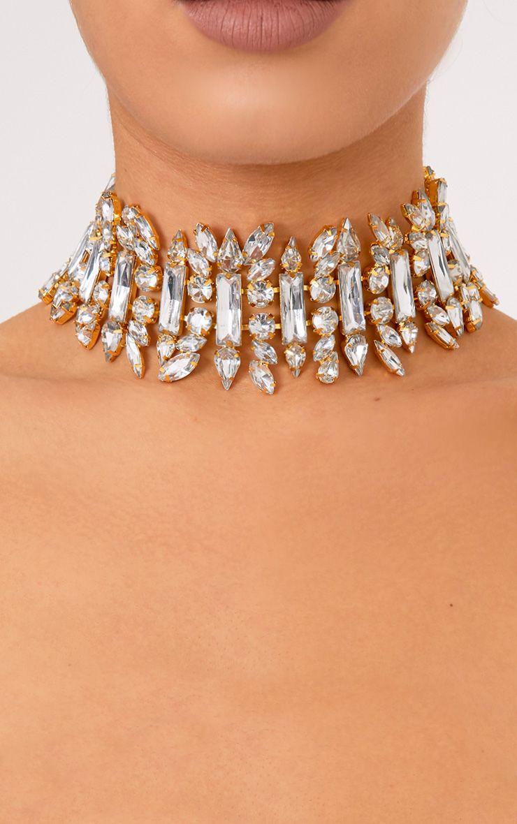 Lylia Gold Chunky Jewel Choker