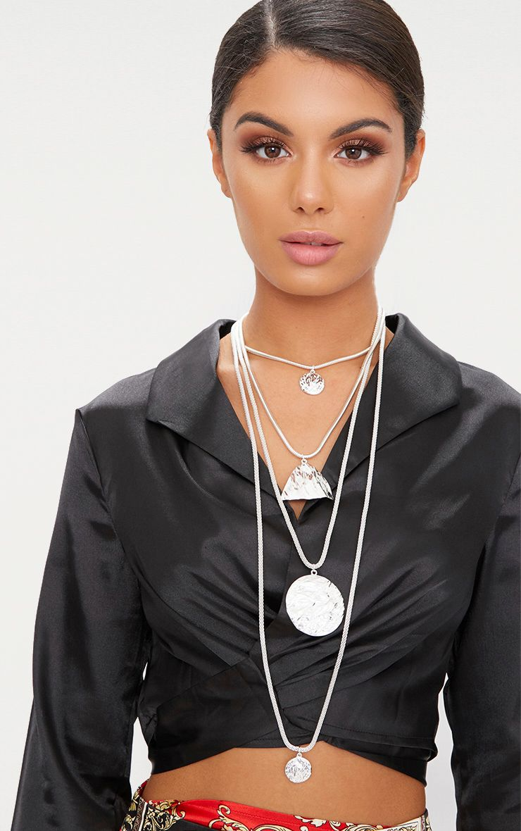 Silver Chunky Layered Necklace