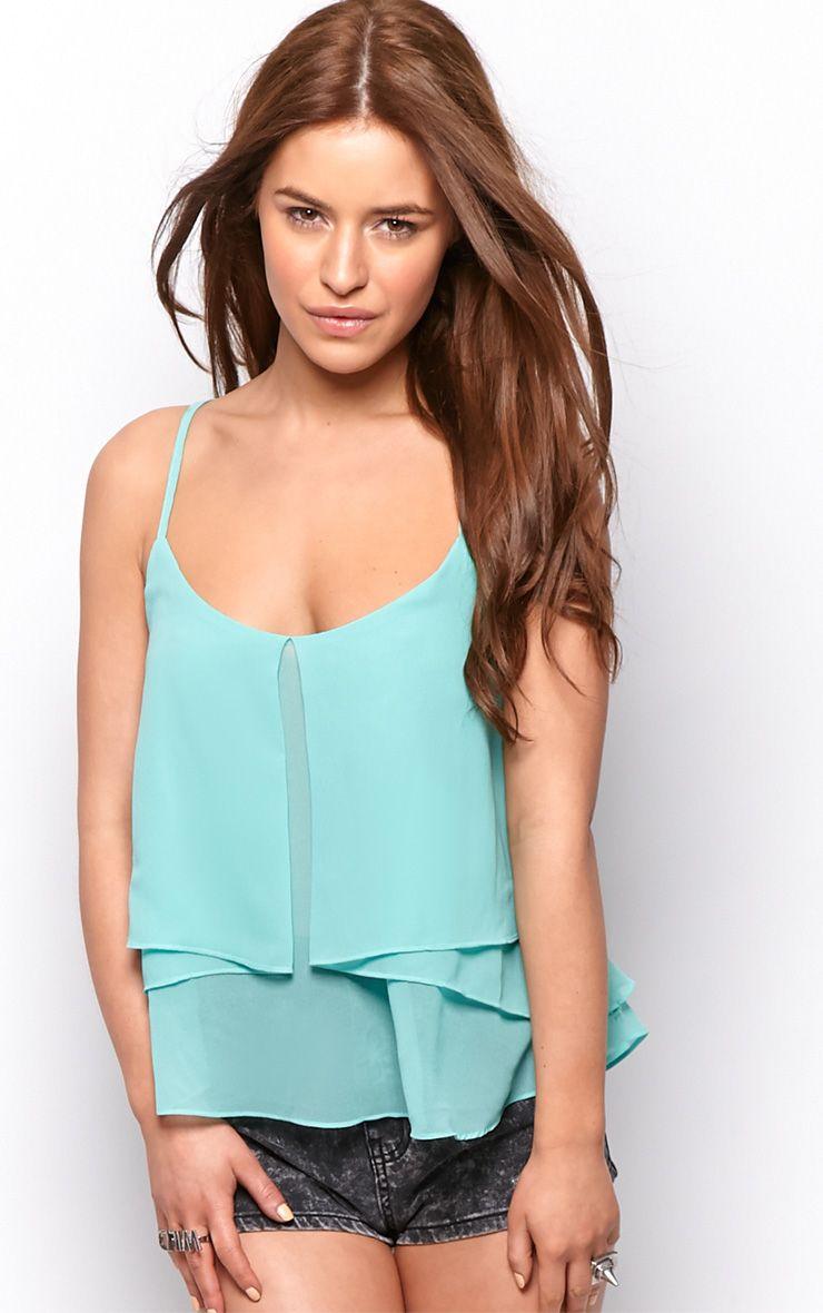 Lexie Mint Chiffon Swing Vest 1