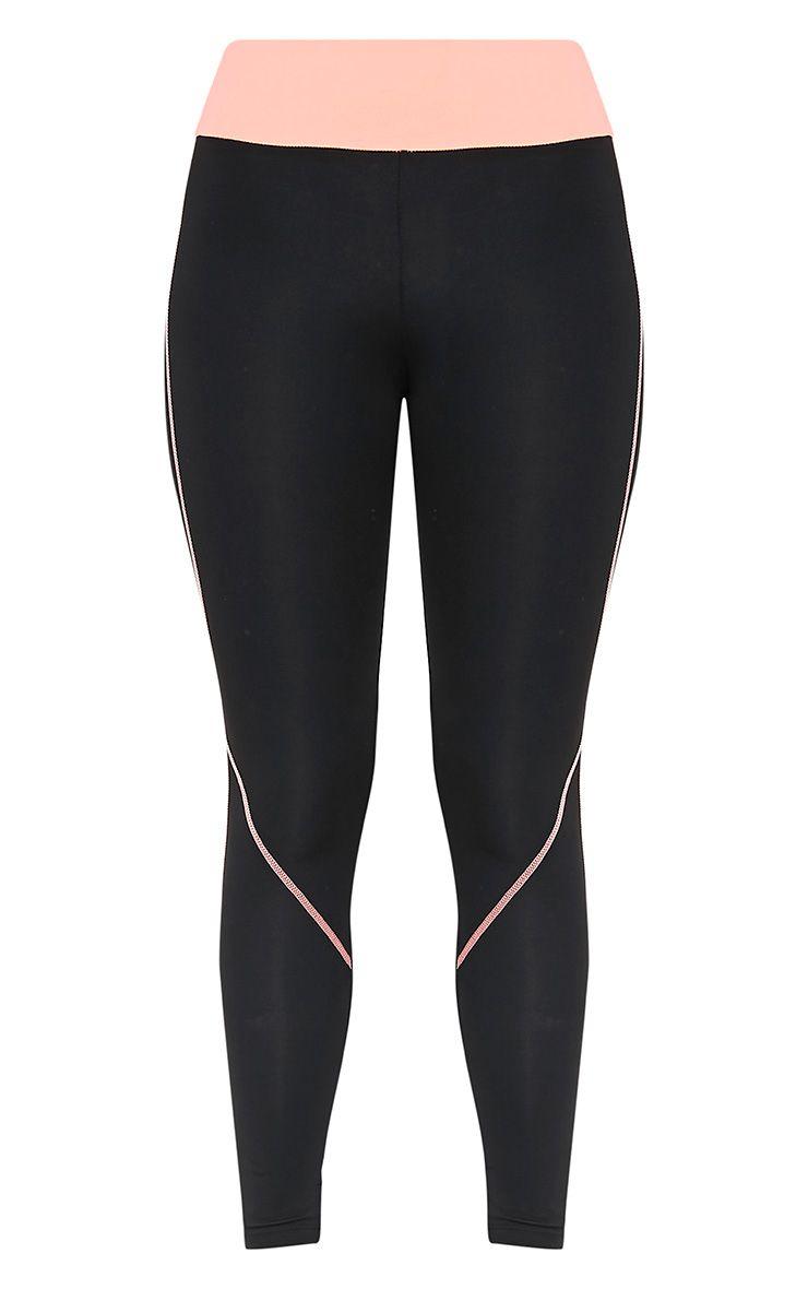 Elizabeth Peach Panelled Gym Leggings 3