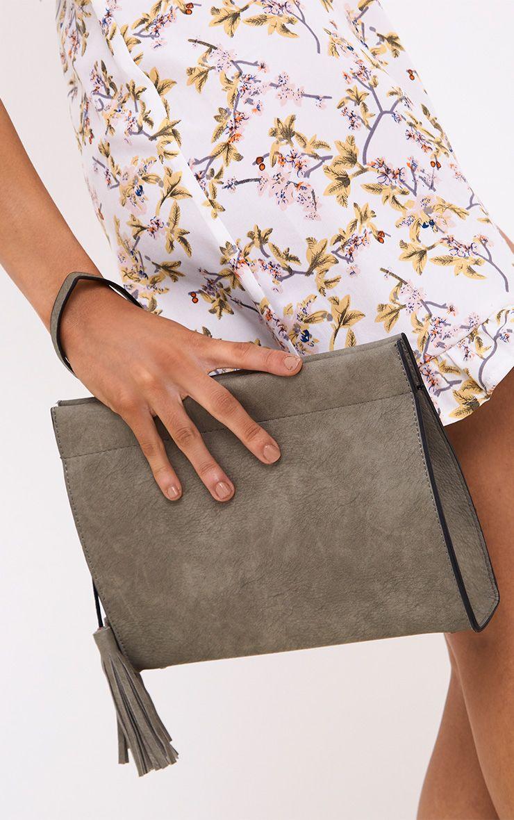 Grey Magnetic Fasten Shoulder Bag