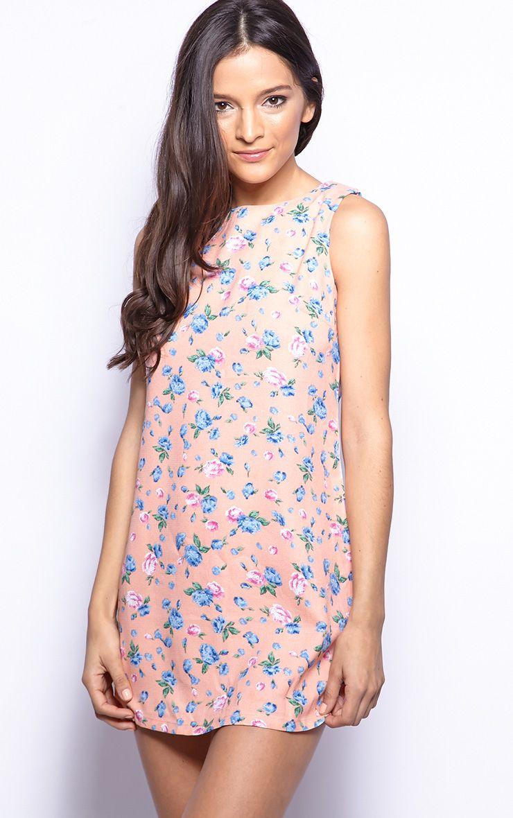 Lorna Pink Floral Shift Dress 1