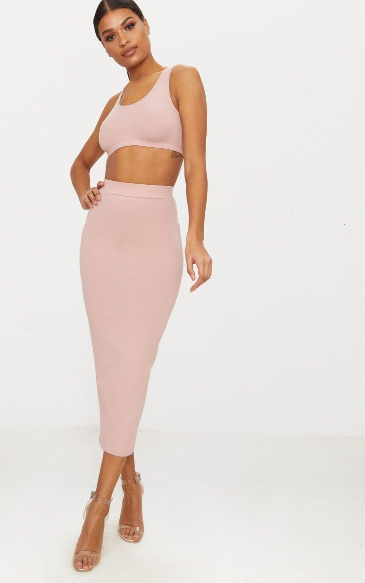 Rose Second Skin Bodycon Midaxi Skirt
