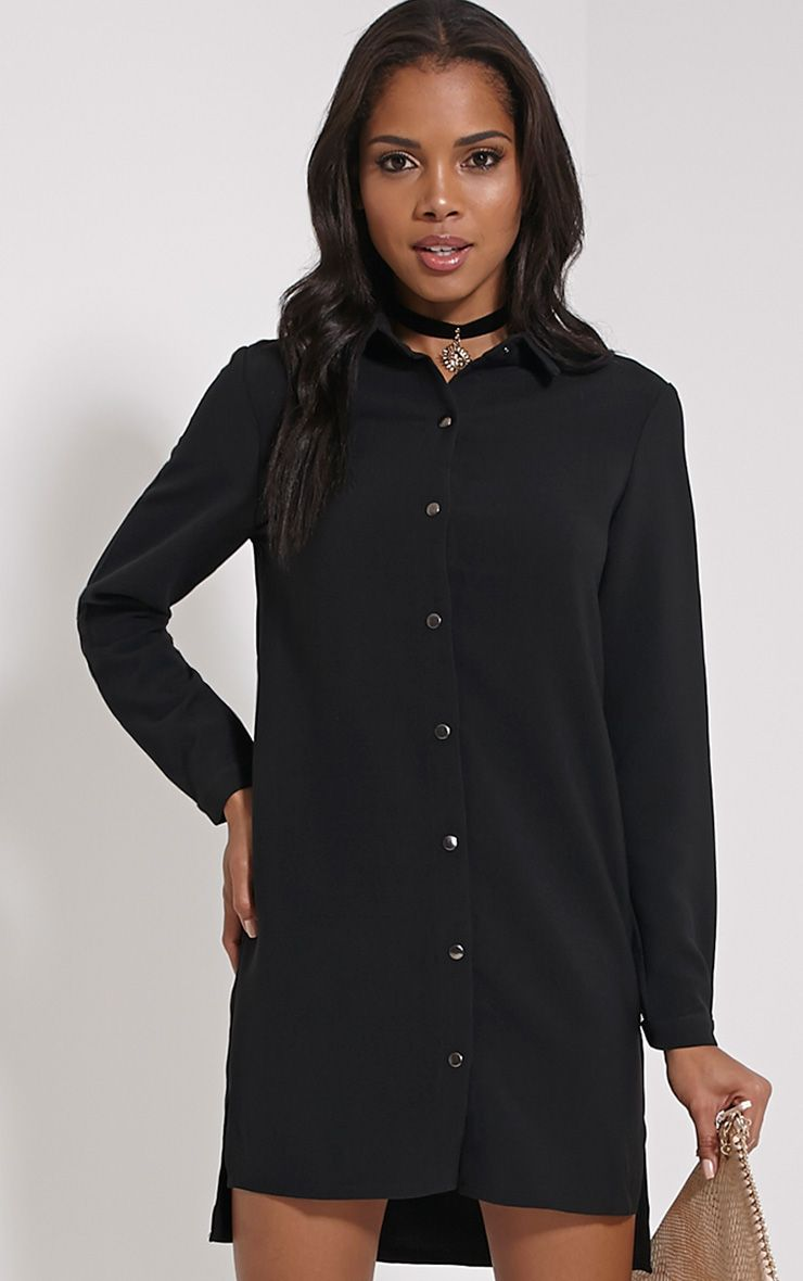 Raden Black Premium Shirt Dress 1