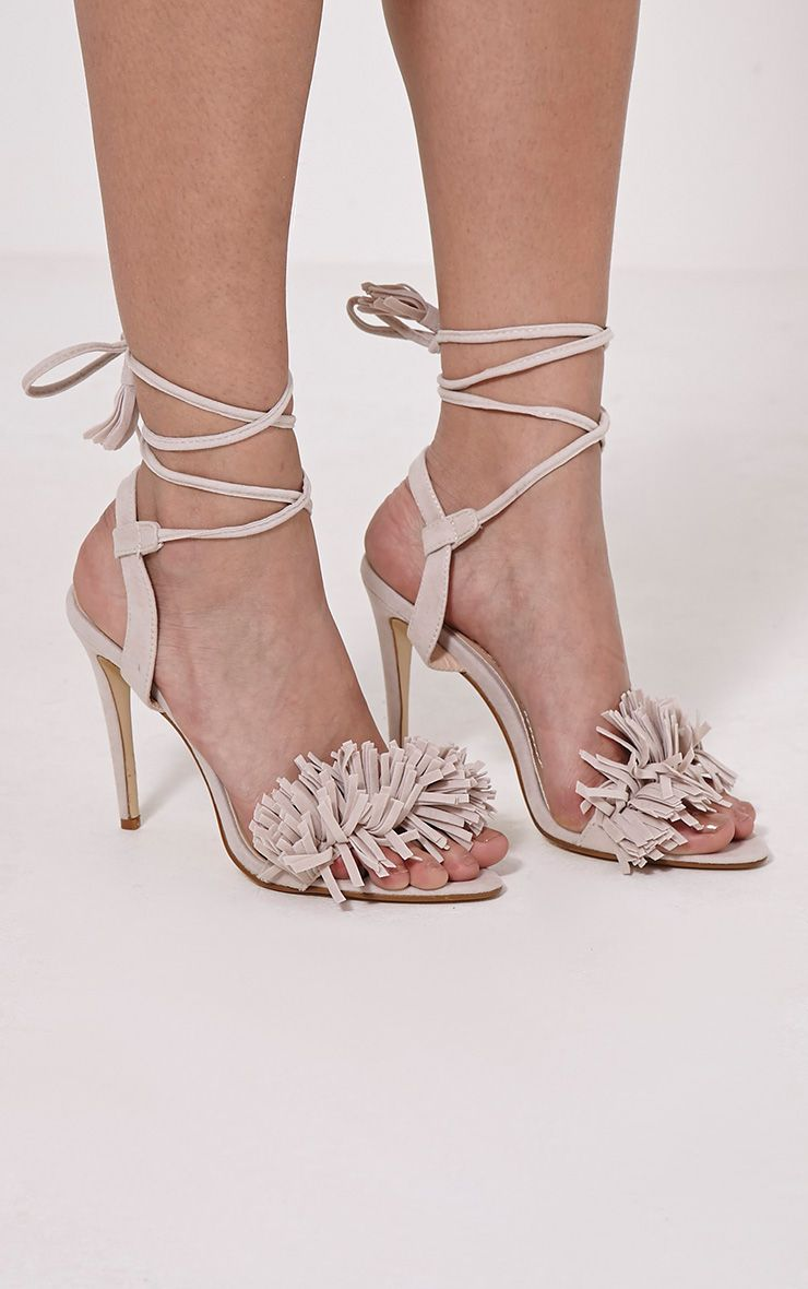 Alva Nude Tassel Front Heeled Sandals 1