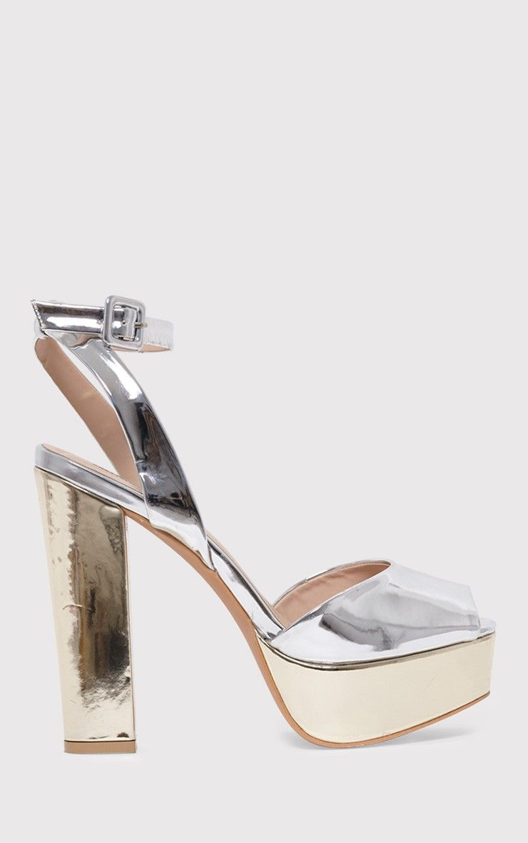 Dianne Silver Metallic Platform Heels