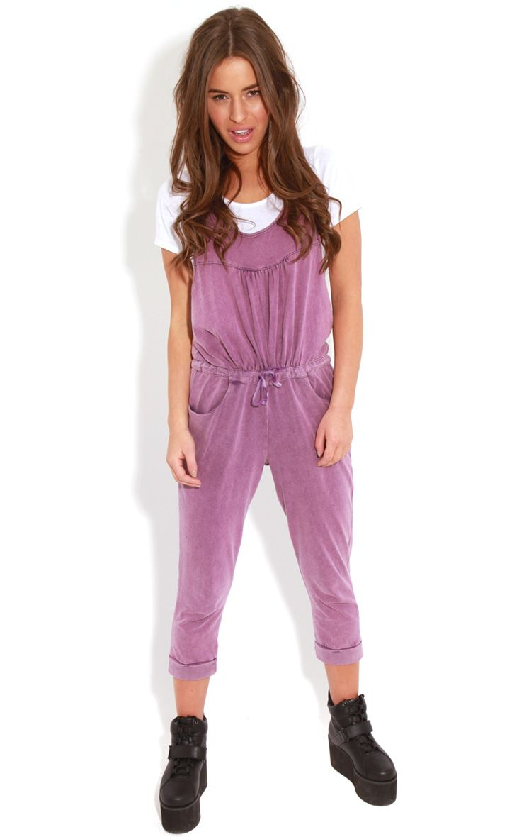 Bianca Purple Drawstring Jumpsuit 1